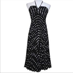Ann Taylor Pleated Halter Dress 10